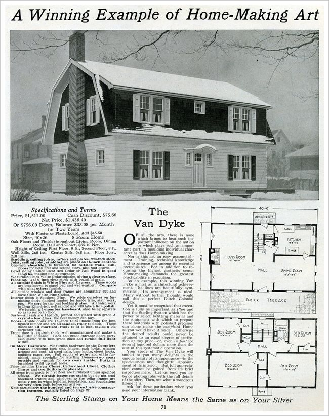 17 best images about dutch colonial on pinterest kit for Dutch colonial house plans with photos