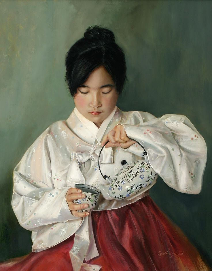 "Cynthia Feustel's ""Eun Mee"" -- oil on linen."