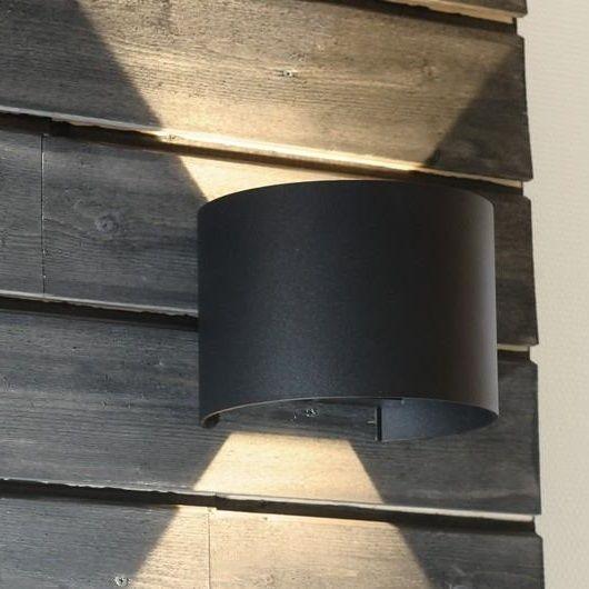 Origo Mini vegglampe 2x1W LED m/ justerbar lysåpning og valgfri front