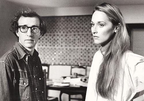 Woody Allen & Meryl Streep on the set of Manhattan, 1979