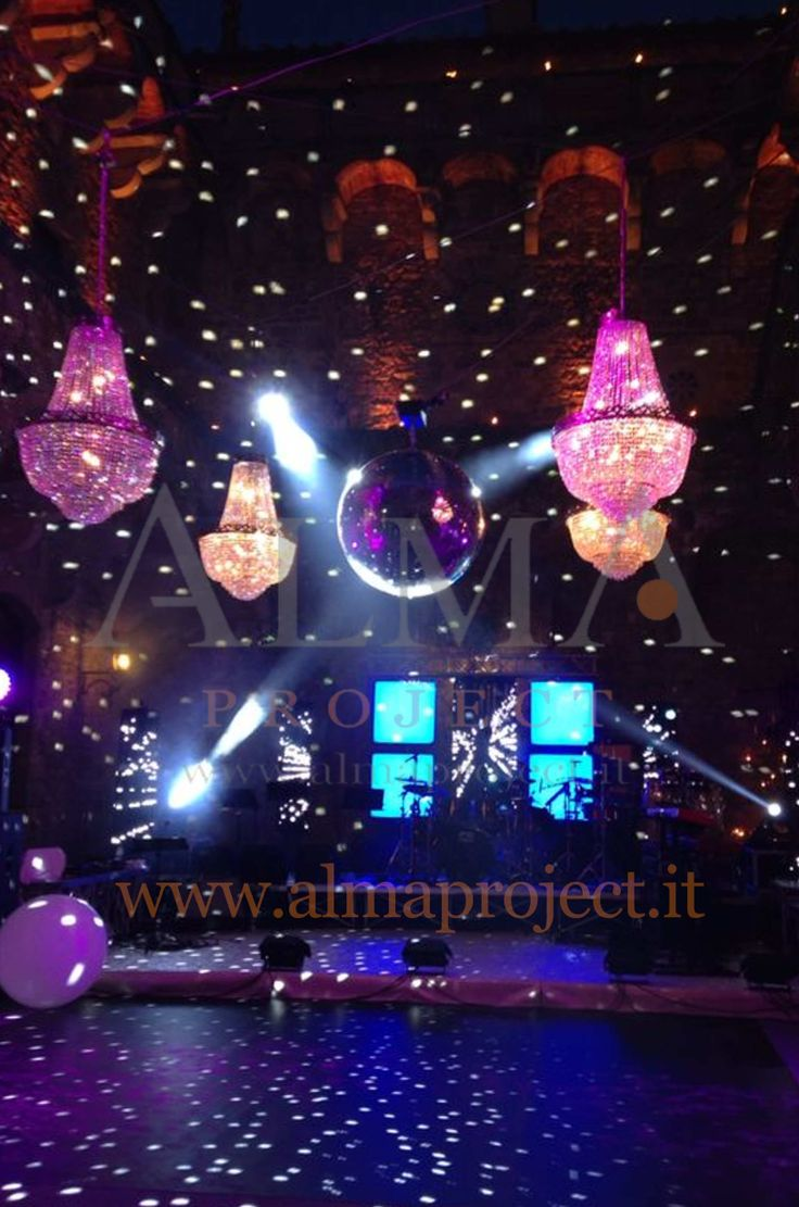 ALMA PROJECT @ Vincigliata - dancefloor stage band led wall mirror ball moving heads lighting show