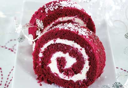 Bûche Red Velvet au mascarpone #dessert #noel