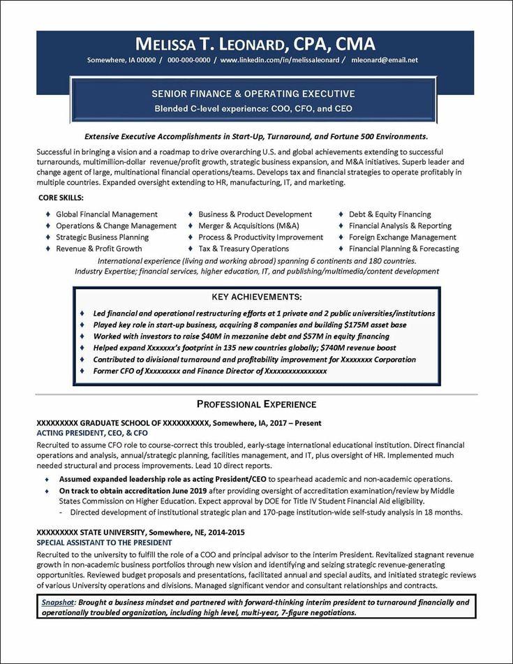 C suite resume templates 5 templates example