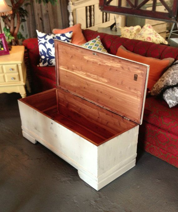 Vintage Cedar Chest Coffee Table Storage Cavalier By Girlupcycled Big Girl Bedroom Pinterest