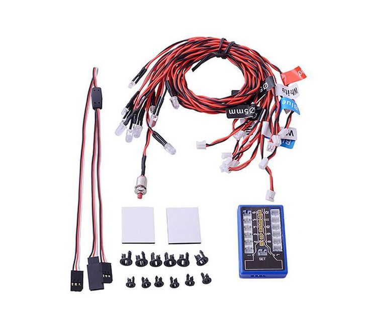 12leds Car LED lamps light Strobe lights kit for 1/10 1/8