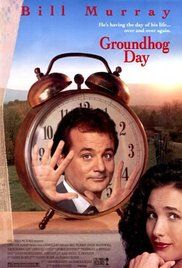Groundhog Day -  A weatherman finds himself inexplicably living the same day over and over again. Director: Harold Ramis. Writers: Danny Rubin (screenplay), Harold Ramis (screenplay). Stars: Bill Murray, Andie MacDowell, Chris Elliott