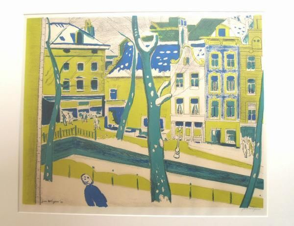 Jan wiegers litho amsterdam art pinterest for Amsterdam b b centro