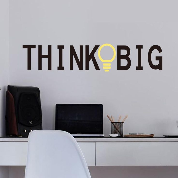 Think Big Bulb Wall Sticker //Price: $6.99 & FREE Shipping //     #DIY
