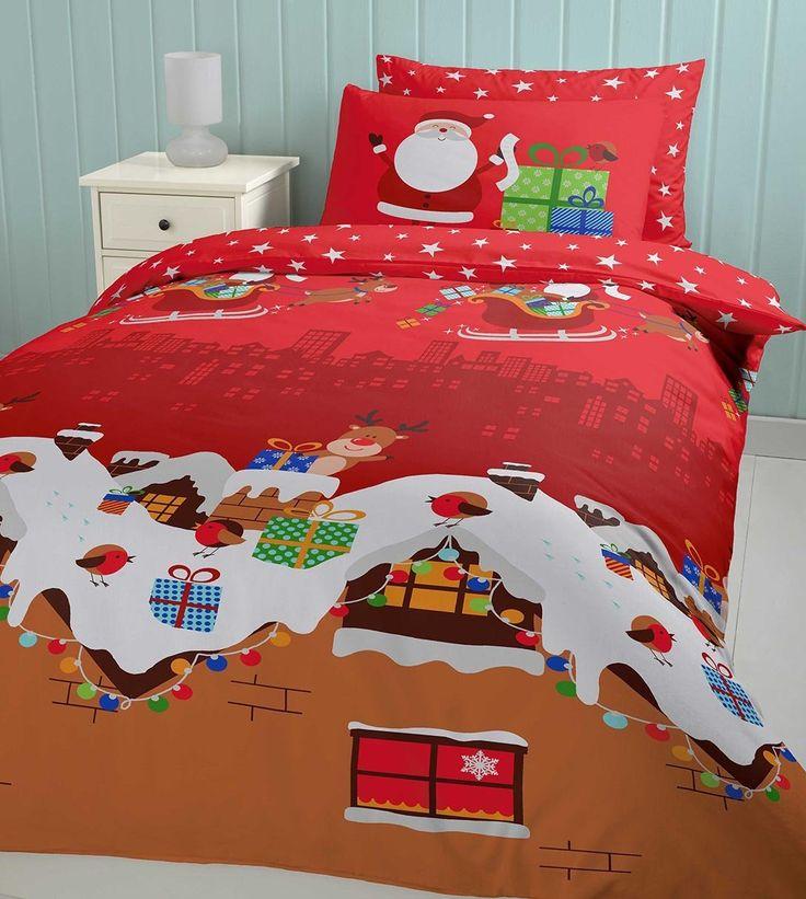 Las decoraciones navideñas llegan a todos los rincones de la casa, incluso en las camas.  #hogar #decoración