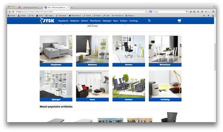 Jysk is ook een woonwinkel als Ikea alleen waar Ikea overal room is is Jysk het ruimst kwa assortiment in slaapkamer spullen.