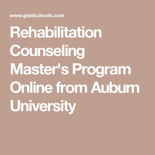 Rehabilitation Counseling Master's Program Online from Auburn University