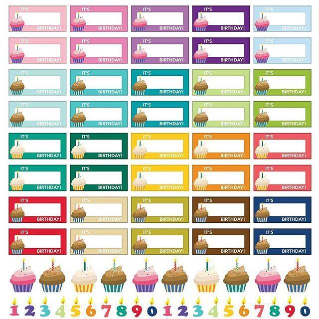 "Free Printable Planner Stickers: ""Birthday Reminders"""