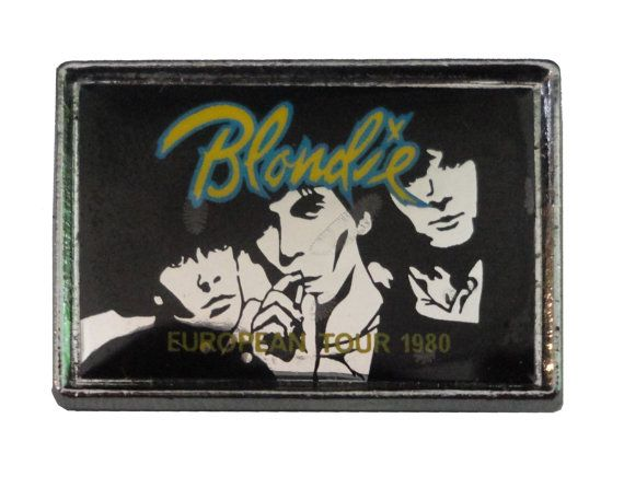 BLONDIE European Tour 1980 vintage mirror pin lapel button ramones talking heads CBGBs punk by VintageTrafficUSA  35.00 USD  A vintage Blondie Tour pin! Excellent condition. Measures: approx 1 inch 20 years old hard to find vintage high-quality pin. Have some individuality = some flair! Add inspiration to your handbag tie jacket backpack hat or wall. -------------------------------------------- SECOND ITEM SHIPS FREE IN USA!!! LOW SHIPPING OUTSIDE USA!! VISIT MY STORE FOR MORE ITEMS…
