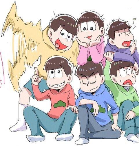 Osomatsu, Karamatsu, Choromatsu, Ichimatsu, Jyushimatsu y Todomatsu Osomatsu-San