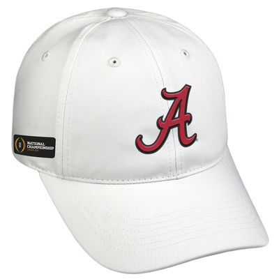 Men's Top of the World White Alabama Crimson Tide College Football Playoff 2017 National Championship Bound Structured Adjustable Hat
