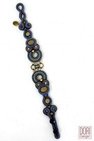 Ishtar blue boho chic casual bracelet by Dori Csengeri