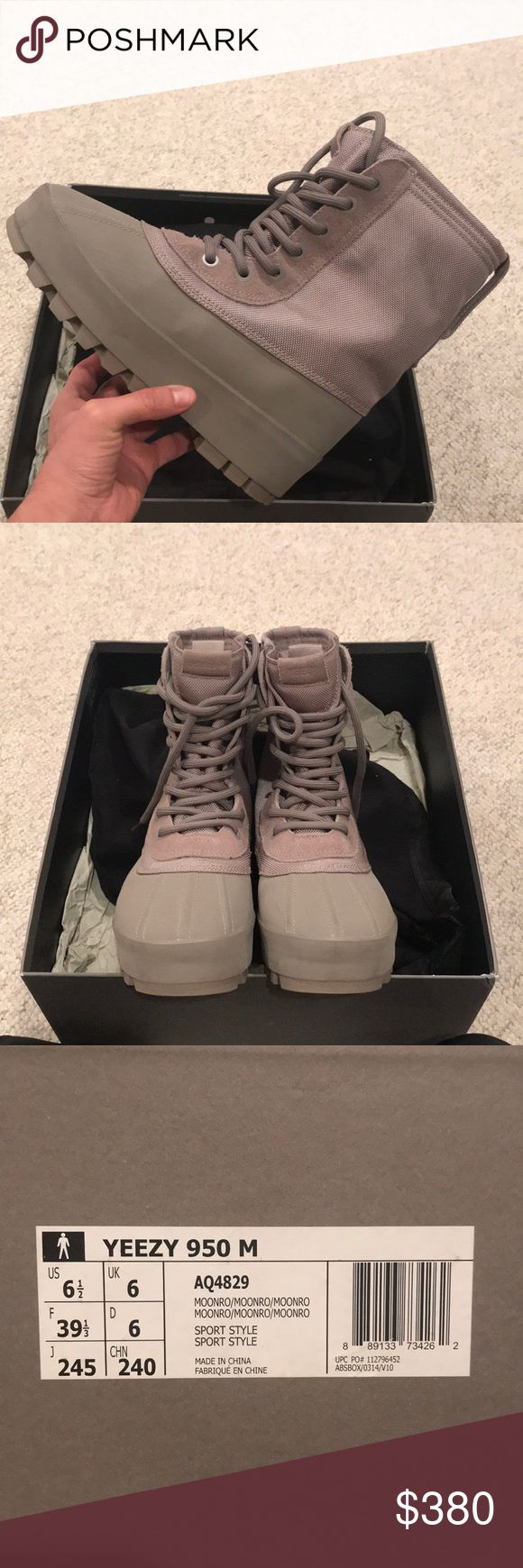 YEEZY 950 YEEZY 950  Mens. US 6.5 Moonrocks  Used A Few times.!  Original Box  Dust bags Extra laces adidas Shoes Sneakers