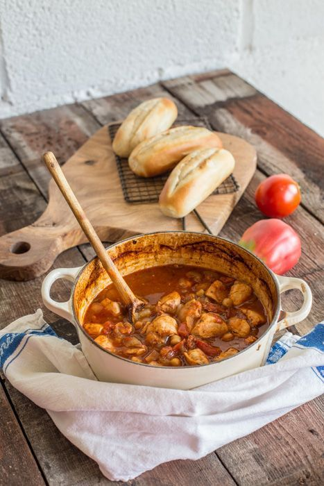 Yummy recipe for Chicken Chorizo and Chickpea Stew. It's comforting, nourishing and full of flavour!  The Hedgecombers