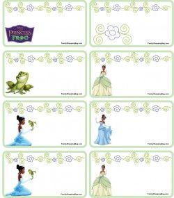 Gift Tags Princess Frog Princess Frog Gift Tags Free The Princess And The Frog Free Printable