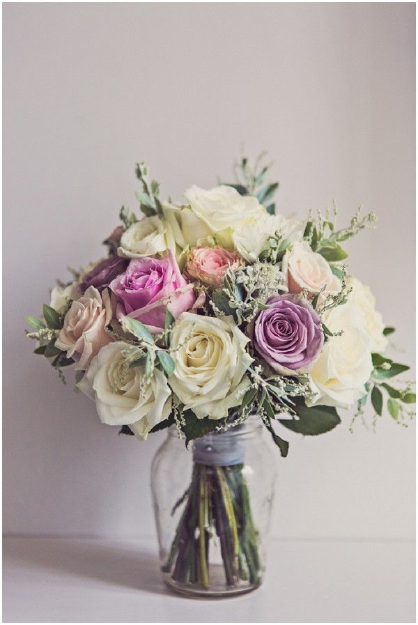 Pastel wedding flowers | Image by Claire Penn Photography