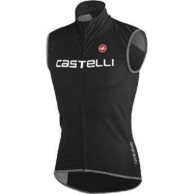 Castelli 2013/14 Men's Fawesome Cycling Vest - C11509 (black/reflective silver - L) - http://ridingjerseys.com/castelli-201314-mens-fawesome-cycling-vest-c11509-blackreflective-silver-l/