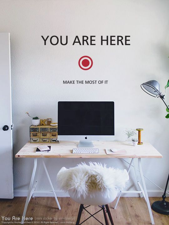 Vinylize Wall Deco - Mini You Are Here - Wall Sticker