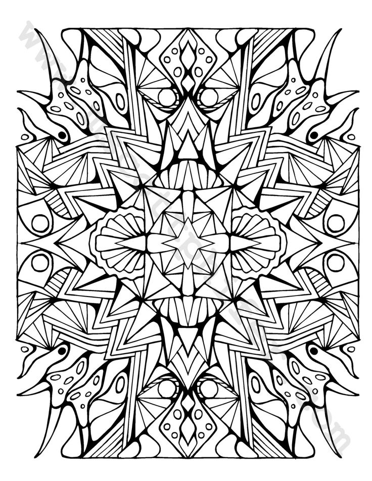 708 best Coloring  Geometric Designs images on Pinterest
