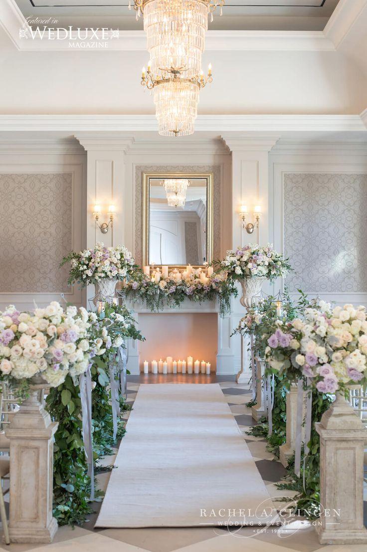 hazelton manor wedding ceremony flowers and decor by Rachel A. Clingen