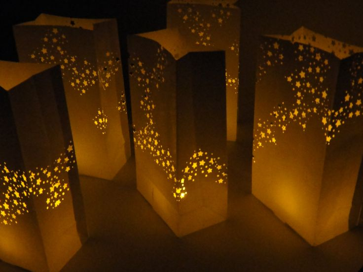 Galaxy star luminaries with led candles 12 for christmas party decor luminary bags midnight - Appealing christmas led candles for christmas decorations ...
