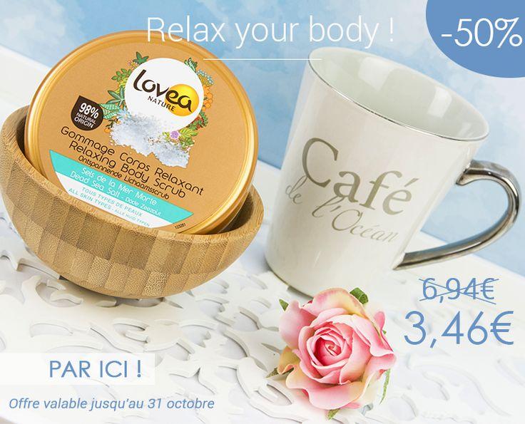 Le gommage corps aux sels de la mer morte est à -50 % sur notre boutique en ligne www.lovea.fr ! 3,46 € au lieu de 6,94 € !!! Foncez foncez sans plus attendre ☺️