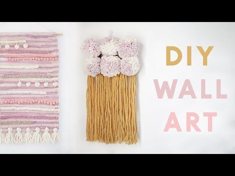DIY Modern Wall Hangings | Easy DIY Wall Decor Projects for 2018 - YouTube