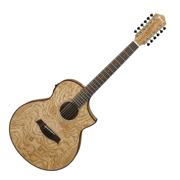 Ibanez AEW4012AS 12 String Electro Acoustic Guitar, Figured Ash at Gear4music.com
