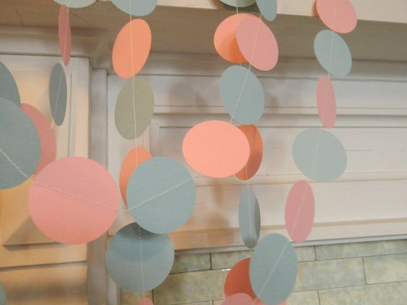 Hey, I found this really awesome Etsy listing at http://www.etsy.com/listing/127915566/paper-garland-10ft-pink-and-blue-baby