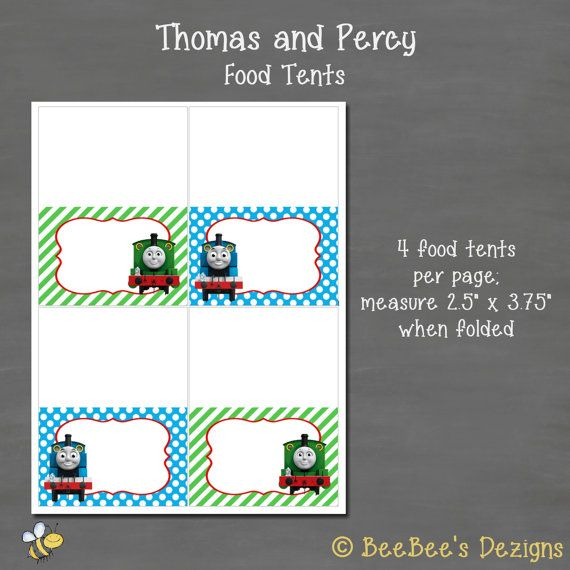 INSTANT DOWNLOAD Thomas the Train and Percy by BeeBeesDezigns