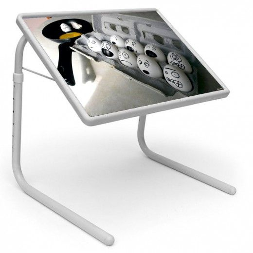 Eggs Fry Table Mate Designer Portable Adjustable Dinner Cum Laptop Tray Table 161