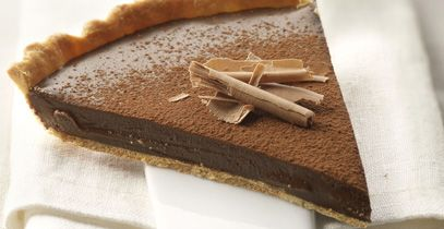 Pastel de crema de chocolate
