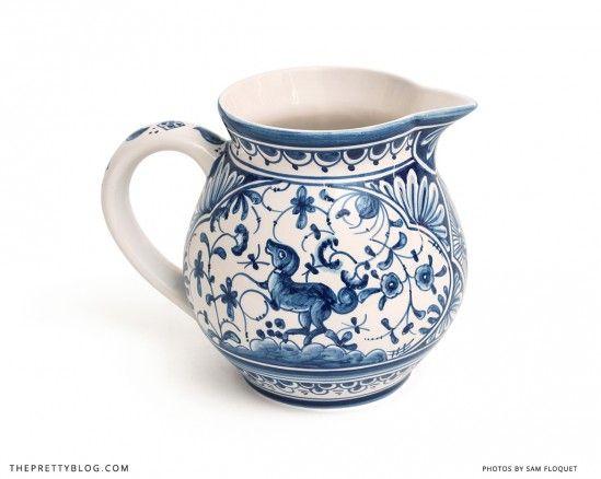 Blue & White ceramic jug from @Bespoke   Photo: Sam Floquet