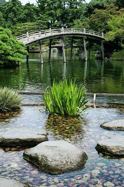Bridges - Ritsurin Garden, Takamatsu, Kagawa, Japan