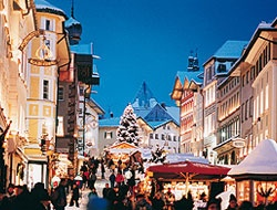The Bad Tölz Christmas Market. Bad Tolz is located in Bavaria, Germany.