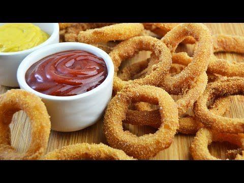 Aros de Cebolla Crujientes (Onion Rings) | Recetas de Aperitivos - YouTube