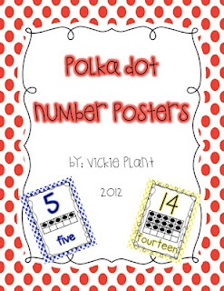 Number Posters with ten frames {1-20}  *Adaptation:  kids can create the posters to show they understand the numbers. (Quantification and Numeric representation)