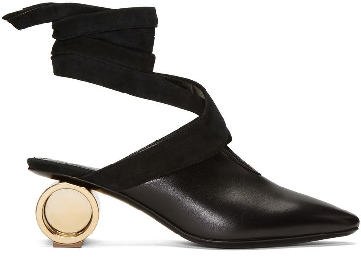 JW Anderson Black Patent Flare Heel Boots YDZ73tld