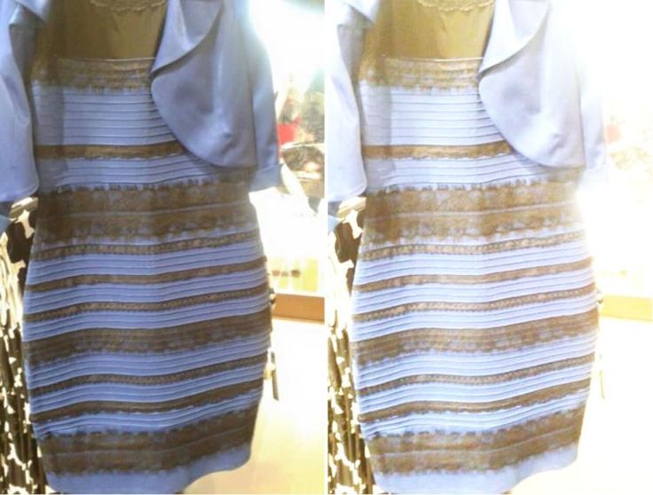 Blue and black or white and gold dress brain teaser