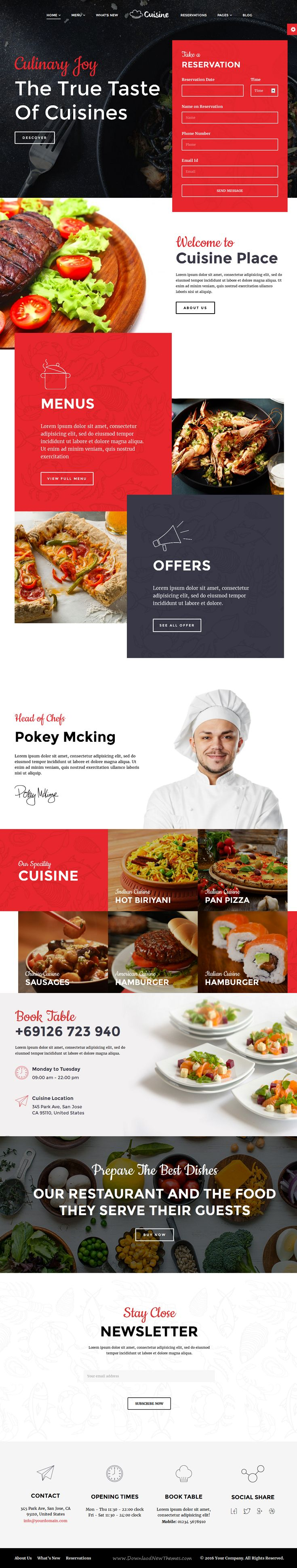 Cuisine is Responsive WordPress Theme for #restaurant and #food, hospitality #websites. Download Now!
