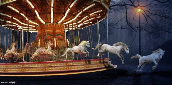 Carousel Horses by Anne Wipf