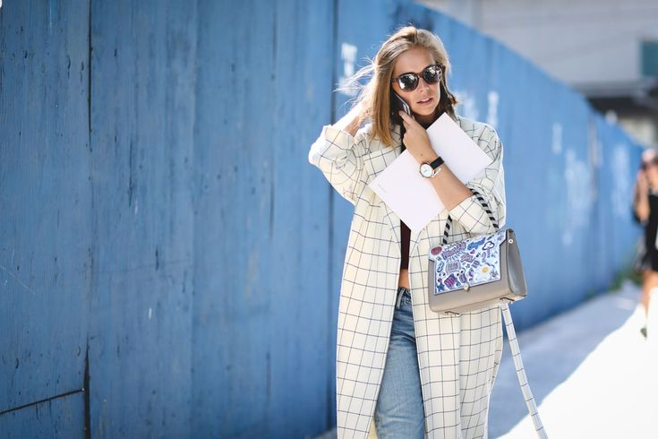 Is grid print a new classic? #refinery29 http://www.refinery29.com/2015/09/93788/ny-fashion-week-spring-2016-street-style-pictures#slide-19