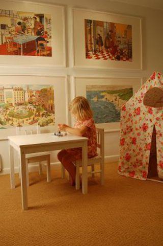 Playroom Art: Frames, Kids Spaces, Tent, Plays Spaces, Photo, Big Art, Girls Rooms, Playrooms Art, Kids Rooms