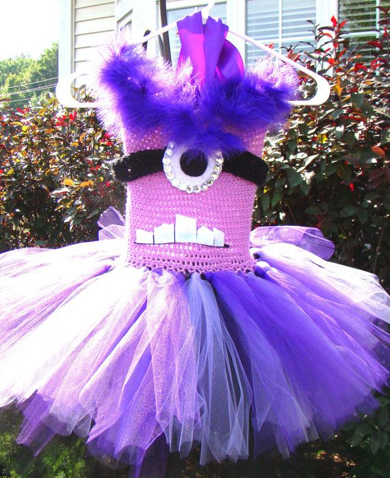 EVIL MINION inspired HALLOWEEN Costume Custom Made for Sizes 2T - Girls 10 on Etsy, $35.00