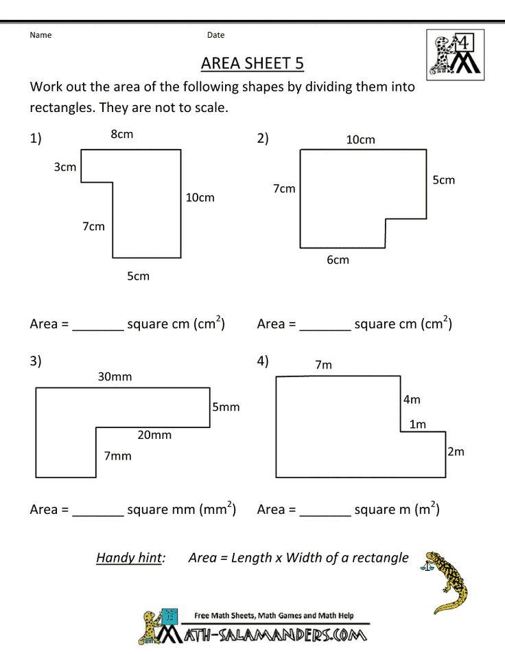 Area Worksheets Math Area Worksheets   Area worksheets ...