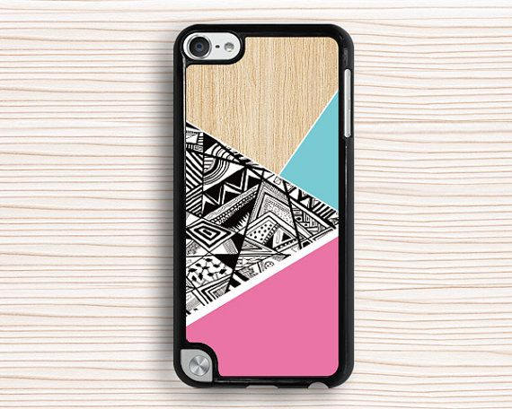 ipod casepink blue ipod touch 4 casewood ipod touch 5 by anewcase, $9.99